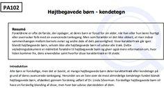 #Gifted #Dansk Højtbegavede Børn Kendetegn https://www.giftedchildren.dk/open/documents/factsheets/Parents/PP%20Fact%20sheets/General%20-%20free%20to%20download/PA102%20Hojtbegavede%20born%20-%20kendetegn%20-%20Gifted%20Children.pdf