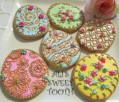 My idea of a Faberge egg cookie.Decorated shabby chic sugar...