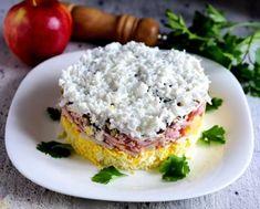Рецепты салатов на Новый год 2021: Салат французский с яблоком и сыром Salmon Burgers, Grains, Rice, Ethnic Recipes, Food, Meals, Laughter, Jim Rice, Korn
