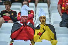 Euro 2016 :  Belgian supporters support their team before the beginning of  Belgium vs Ireland soccer game in Bordeaux. //AMEZUGO_belvsirlfans-3/Credit:UGO AMEZ/SIPA/1606181908