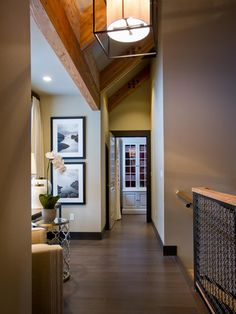 More than just a thoroughfare, the stairwell and second floor landing offer a mix of industrial, modern and traditional elements worthy of a second look.