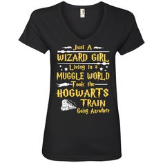 just a wizard girl living  Ladies ' V-Neck Tee