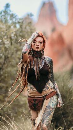 Street toys auto inc. Tattoo Girls, Girl Tattoos, Sexy Tattoos, Body Art Tattoos, Guerrero Tribal, Dreads Girl, Fantasy Girl, Poses, Lingerie Models