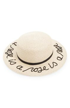 Eugenia Kim 'Brigitte - A Rose is a Rose is a Rose' Hemp & Cotton Boater Hat available at #Nordstrom