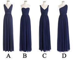 2015 Dark Blue Bridesmaid Dresses,Long chiffon Party Dresses For Wedding,Evening Dresses,Pleat Bridesmiad Dress
