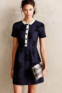 House Cat Shift Dress #anthropologie #anthrofave