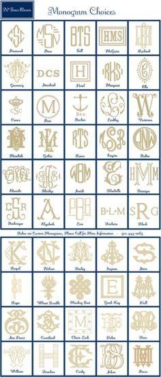 monograms by brigettenicole