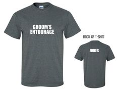 CUSTOM GROOM'S ENTOURAGE - Groomsman Shirt, Best Man, Bachelor Party T-Shirt - Many Colors on Etsy, $14.76 AUD