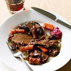 This classic brisket is slow-braised in the oven with plenty of onions, which get nice and soft and sweet. Evan Bloom and Leo Beckerman, of the extremely popular Wise Sons Jewish Delicatessen in San Francisco, gave us the recipe.