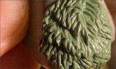 Sculpting fur with green stuff