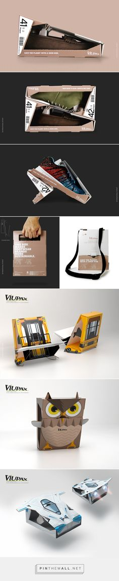 Viupax Innovative Sustainable Shoe Box packaging design #concept by Matadog Design - http://www.packagingoftheworld.com/2017/06/viupax-innovative-shoe-box-concept.html