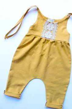 Handmade Linen & Lace Jumpsuit | StandardOfGraceShop on Etsy
