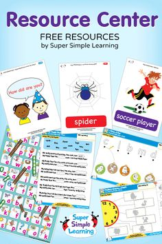 Free Worksheets resources for kids from Super Simple Learning. #EFL #preschool