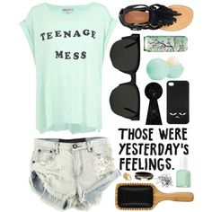 Don't like the words on the shirt but cute outfit !!