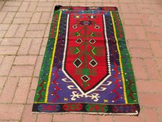 Rare Handwoven Kilim RugTurkish Tree Of Life by otantikpillow