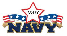 Navy Personalized Christmas Ornament