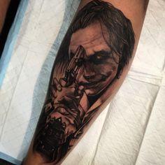 Batman Dark Knight, Joker. Tattoo by Tommy at Diabolik in Newcastle.  (2120×2120)