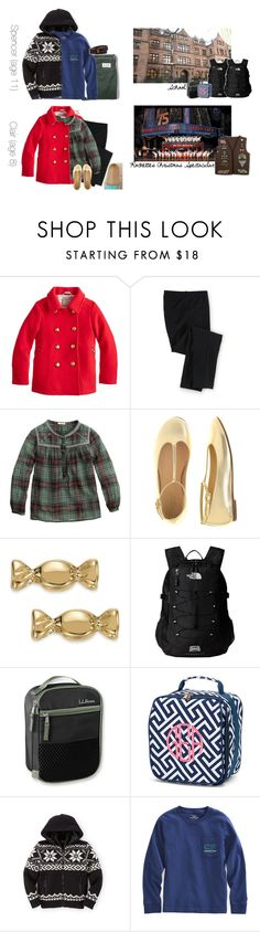 """""""A Friday In December: School and Rockettes"""" by teamboby ❤ liked on Polyvore featuring J.Crew, Kate Spade, The North Face, Girls, boys, kids and girlscouts"""
