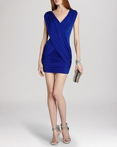 BCBGMAXAZRIA Dress - Alondra Sleeveless Double V-Neck Sheath