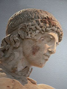 """""""Tiber Apollo"""" Roman copy after a Greek original by Phidias dated ca. 450 BCE reign of Hadrian or Antoninus (117–195 CE) w lighting effects and craquelure texture applied"""