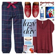 """""""Sleep In: Lazy Day"""" by megan-vanwinkle ❤ liked on Polyvore featuring Fat Face, EyeBuyDirect.com, Skinnydip, Gucci, Foundrae, LazyDay and polyvoreeditorial"""