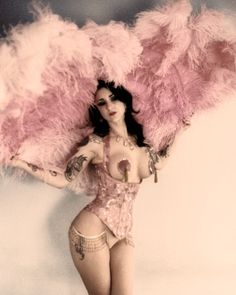 burlesque dancer 8x10 photo