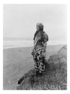 Young American Indian woman by Edward Curtis