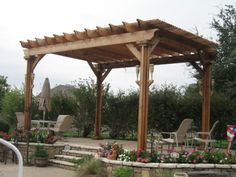 Fort Worth pool side pergola