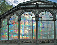 Sunrise Kaleidoscope, The Crystal Palace, Madrid, Spain    I need to see this.