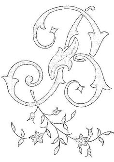 8  B Monogram for Embroidery