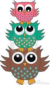 """cute owls - with family names! """"femme fam"""""""