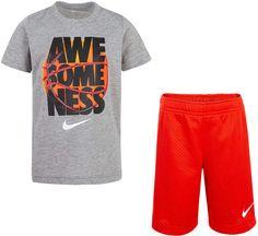 3924baead80 Nike Little Boys 2-Pc. Awesomeness Graphic T-Shirt & Basketball Shorts