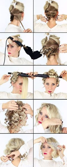 Great gatsby hair tutorial suavecito hair pomade barber products flapperhair suavecita great gatsby hair tutorial good looking braid ideas hairs Great Gatsby Hairstyles, Party Hairstyles, Vintage Hairstyles, Flapper Hairstyles, Great Gatsby Makeup, 1920s Makeup Gatsby, Great Gatsby Outfits, 1920 Gatsby, 1920s Hair Short