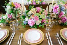 5 Floral Pros Share Their Favorite Spring Centerpieces Romantic Wedding Flowers, Wedding Decorations, Table Decorations, Table Arrangements, Spring Time, Centerpieces, Table Settings, Romance, Dining