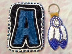 Cardholder/Keychain set // SOLD. Card Holders, Tiffany, Bead, Personalized Items, Cards, Beads, Maps, Playing Cards, Pearl