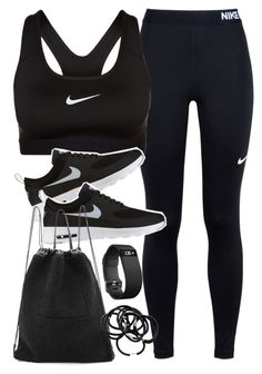 """""""Outfit for the gym"""" by ferned on Polyvore featuring NIKE, Kara, H&M and Fitbit"""