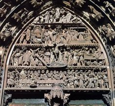 GOTHIC SCULPTOR  Stories of the Passion  1280-1300  Stone  Cathedral, Strasbourg