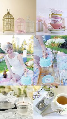 So, I know this is for a bridal shower, but I think these tea party ideas would be perfect for a birthday party or just something fun