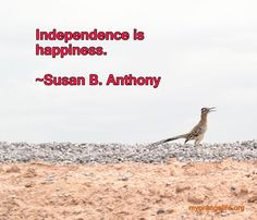 Susan B Anthony Independence Quote