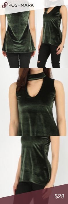 • Emerald Velvet Choker Top • Looser and longer fit with soft velvet fabric. Choker with v-neck cutout. Quality fabric and design. Made in the U.K. (International suggested size adjustment chart provided). Emerald - Green in color. Also available in burgundy in a separate listing. Very versatile! This is a luxurious beauty 😍 Tops