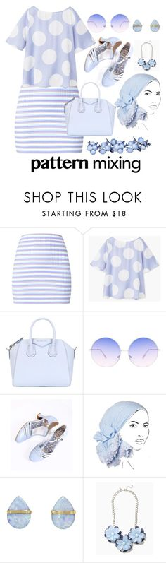 """Baby Blue I love you"" by foxxyslang ❤ liked on Polyvore featuring MANGO, Givenchy, Skinnydip, Bettie Page, Rinati Lakel and Melissa Joy Manning"