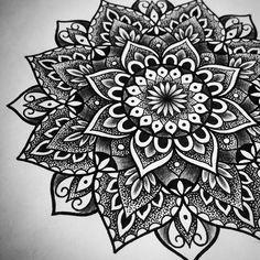 Another design by Siarn - Custom mandala all ready for tomorrow #mandala #dotwork #tattoodesigns
