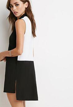 Colorblocked Shirt Dress   Forever 21 - 2000131241