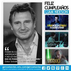 Ha sido un dios 2 veces, ha entrenado a Batman, a Obi Wan y a Darth Varder y hoy cumple 63 años! ¡Por que nos gustan sus películas! ¡Gracias, #LiamNeeson por #LaListaDeSchindler #BusquedaImplacable #StarWars #LasCronicasDeNarnia #FuriaDeTitanes #BatallaNaval