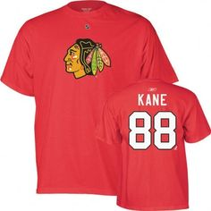 Patrick Kane Youth Red Reebok Player Name And Number Chicago Blackhawks T-Shirt by Reebok. $17.99. One of the best on the ice. Sport your Patrick Kane loyalty in the comfort of this Patrick Kane T-Shirt! Features a vibrantly colored Chicago Blackhawks logo front and center.