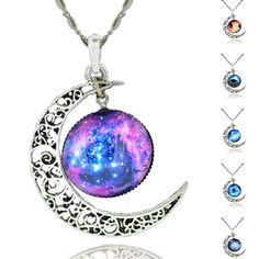 Cheap necklace case, Buy Quality necklace connector directly from China necklace gift set Suppliers: LIEBE ENGEL Brand Silver Color Jewelry Moon Statement Necklace Glass Galaxy Collares Necklace&Pendants Maxi Necklace Women 2017 Colar Fashion, Fashion Necklace, Fashion Jewelry, Moon Necklace, Necklace Price, Pendant Necklace, Garnet Necklace, Silver Necklaces, Sterling Silver Jewelry