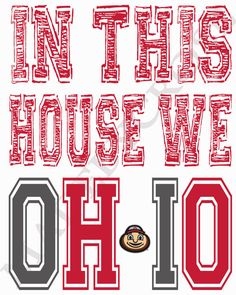 In This House We OH-IO Print OSU Ohio State by MadeByCRose on Etsy