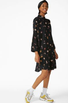 zoomed image Oversized Shirt Dress, Slow Fashion, Monki, Duster Coat, How To Wear, Jackets, Shirts, Clothes, October