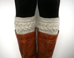 Haferflocken stricken Socken Boot, Boot-Manschetten, boot-Topper, Stulpen