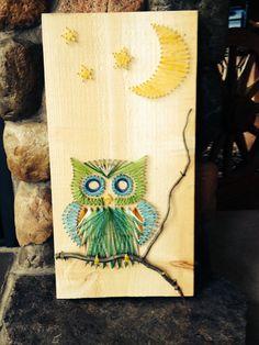 Owl string art by Marshratt on Etsy